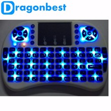 Wholesale i8 2.4g mini wireless keyboard with touchpad for m8s android tv box color backlit three colors in one box