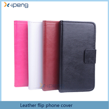 2017 China manufacturer Book type wallet design mobile phone leather magnetic flip cover stand phone case for red mi note 3