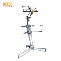 Multifunctional KS-86 Silver Keyboard Stand with Mic & Music Stand