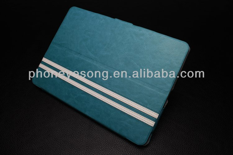 new stripe case for ipad air/for ipad 5 leather case with stand