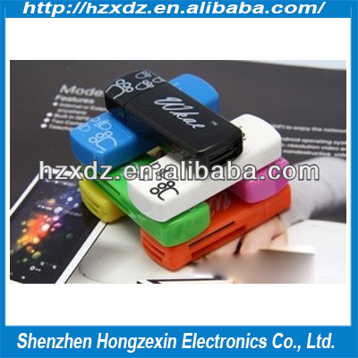 Wholesale Cute little feet cheap 4 in 1 card reader high speed usb 2.0 all in one card reader