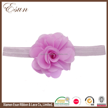 Fashion Baby Girls Hair Accessories Chiffon Flower Headband Newborn Infant Hairband Lace Elastic Hair Bands