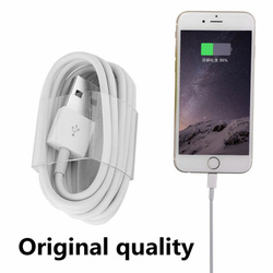 100CM Original White 8Pin USB Charger Data Sync Adapter Cable/cord/wire For iPhone 5 5s 6 6s Plus perfect for ios 9 9.1
