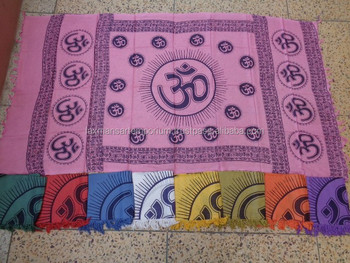 om hand printed scarves pareo sarongs