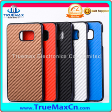 Carbon Fiber Electroplating PC Hard Back Skin Phone Case Cover For Samsung Galaxy S6 Edge+