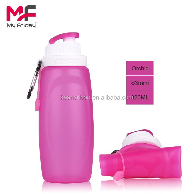 BPA Free Food Grade Light Silicone 550ML Stainless Steel Water Bottle
