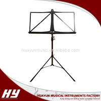 Musical instrument black folding music stand