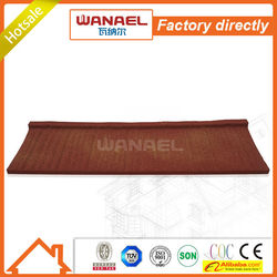 Shake Wanael stone coated roof tile/lowes metal roofing cost/low cost house construction material