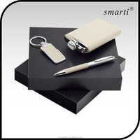 Beautiful pen and keyring hip flask gift set items, gift set for men
