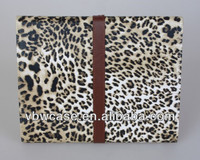 leopard hard case, personality case for ipad, leather pouch case for ipad 2
