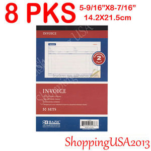 Sales Order Book 2-part Carbonless Invoice Receipt 3-books 50 Sets White/canary