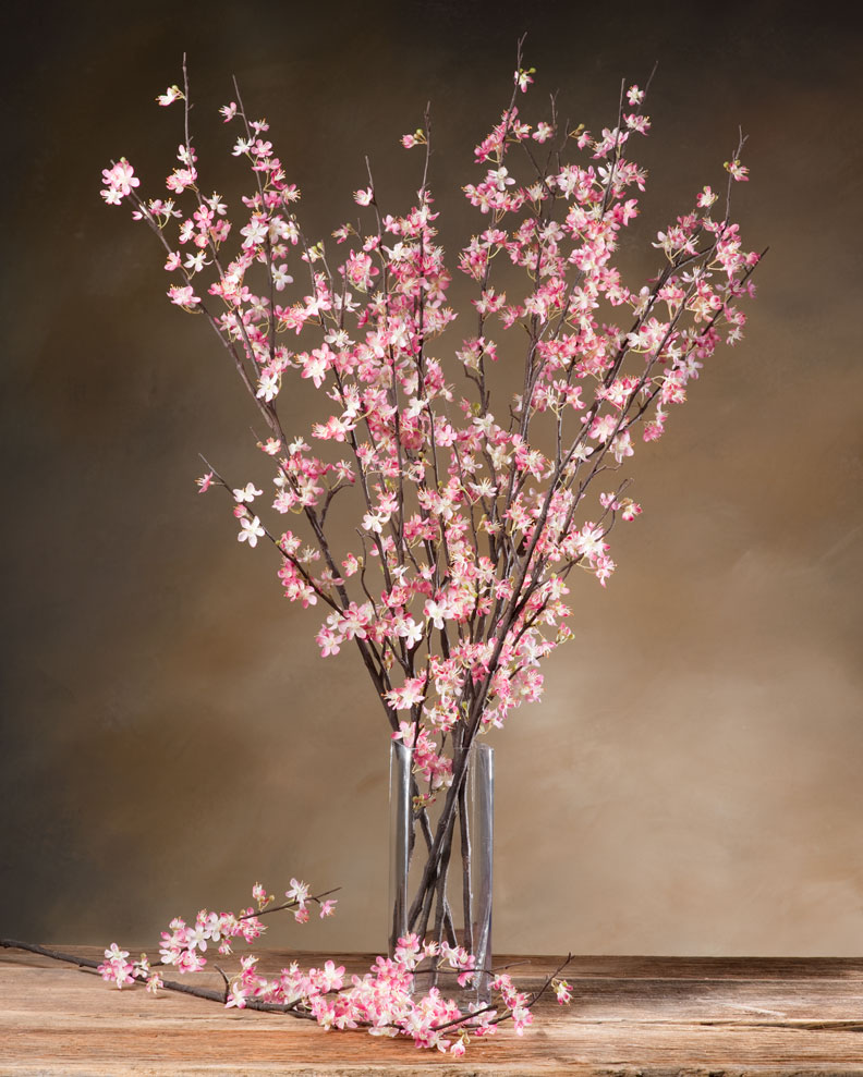 artificial cherry blossom arch pink cherry blossom tree branches for centerpieces