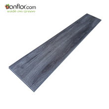 Decorative fiberglass backed non slip plastic beveled edge vinyl plank flooring