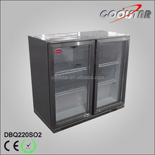 220L Stainless steel back bar bottle cooler