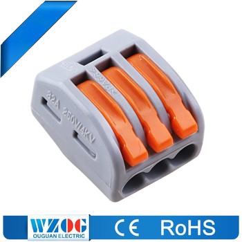 413-A Equivalent wago 222 Series 3 Pin Led Connectors Female Connector Quick Release Wire Connectors