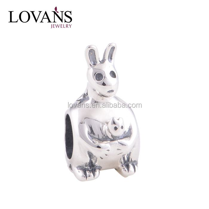 Mother And Kids Charms Beads For Jewelry Making Animal Bead
