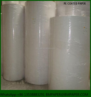 Cheap 230+15gsm 100% virgin wood pulp single side pe coated paper cup raw material