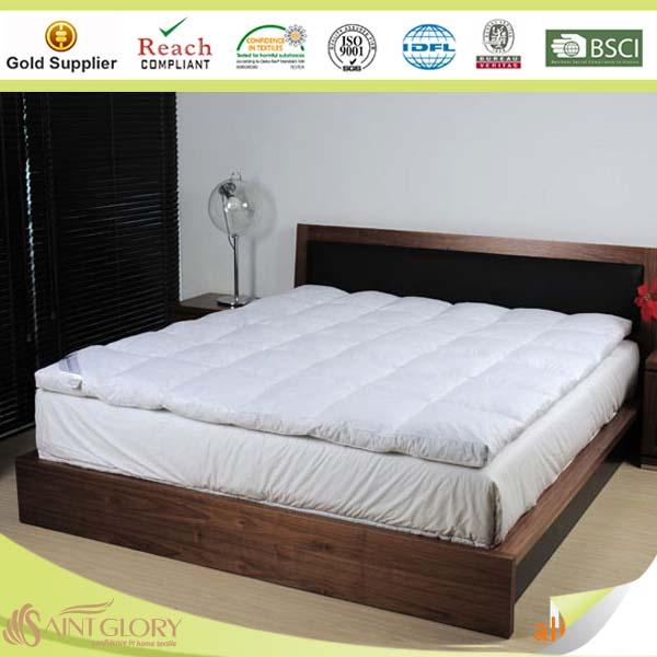100% cotton duck down feather mattress topper pad
