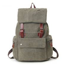 School bag factory produce vintage wax man canvas backpack bag laptop