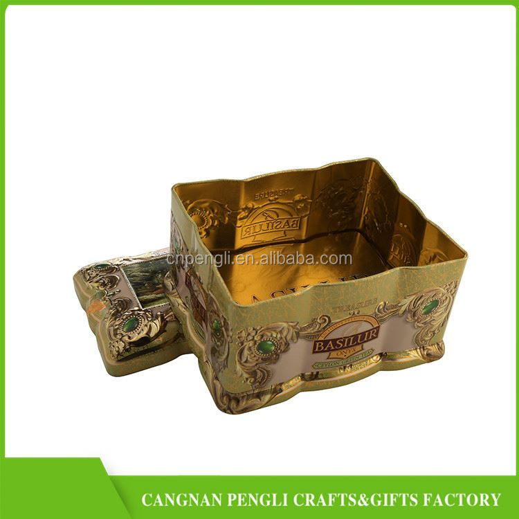 Hot Selling trendy style blank tin tea box for wholesale