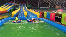 2016 HOT new design adult size giant inflatable water slide