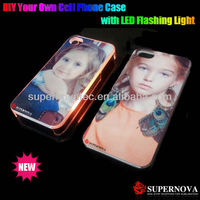 The Latest Sublimation Phone Cover Case with LED Flash Light for iphone5