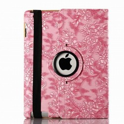 Grape pattern Leather case stand For iPad 4 3 2