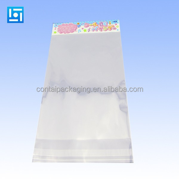 opp clear self-adhesive seal plastic bag from China supplier/plastic gift poly bag
