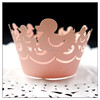 Pink style laser cut duck cartoon cupcake holder paper wrapper Cupcake Wrappers for baby shower kid's birthday party