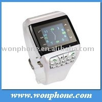 New Dual Sim card Wrist Watch Mobile phone Q9 Quadband With Compass
