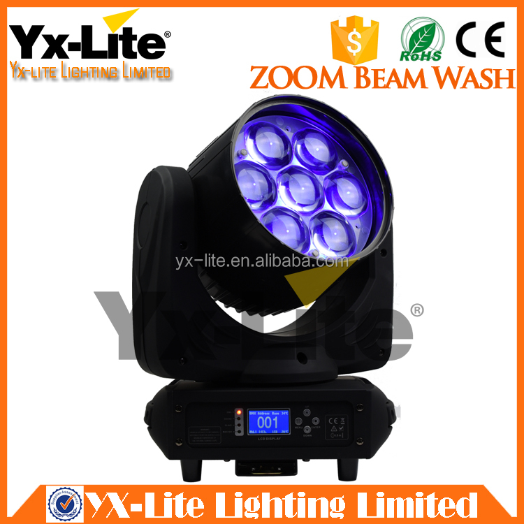 High Power LED Stage Lighting ZOOM 7x40W RGBW 4in1 LED Beam Wash Moving Head Light
