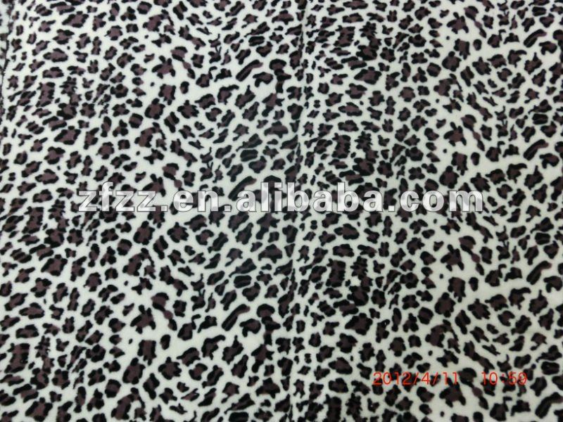 sexy leopard skin print coral fleece fabric used for sofa cover
