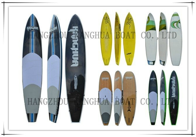 12'2''x 31.9''x4.1'' fiberglass SUP with shape head and round&flat tail