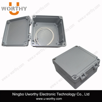 High Precision Square Aluminum Waterproof Box with Hinged Lid