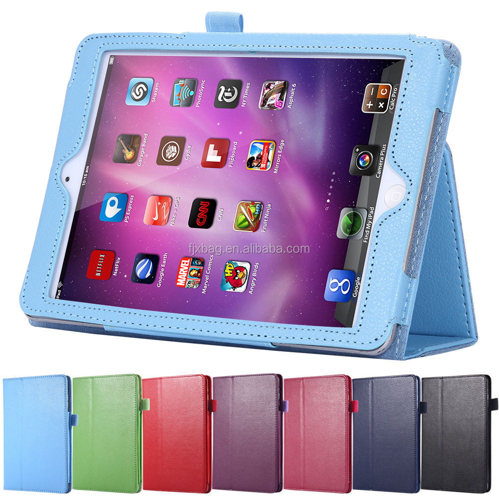 Folio Book Machine Frame leather flip stand smart case cover for ipad air ipad 5