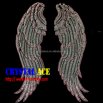 AAA quality crystals Angel wings rhinestone transfer China