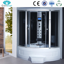 Constar High Quality China Steam Bubble Bathroom Cabinet Foot Massage Prefab Portable Mobile Shower Box