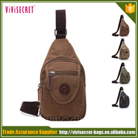 Men's Fashion Durable Convertible Canvas One Strap Sling Backpack Fit Mobile Phone Bag Chest Pack