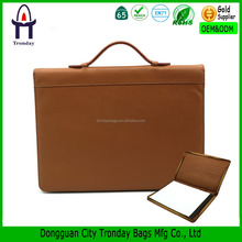 A4 PU leather portfolio folder, briefcase with handle, business card holder