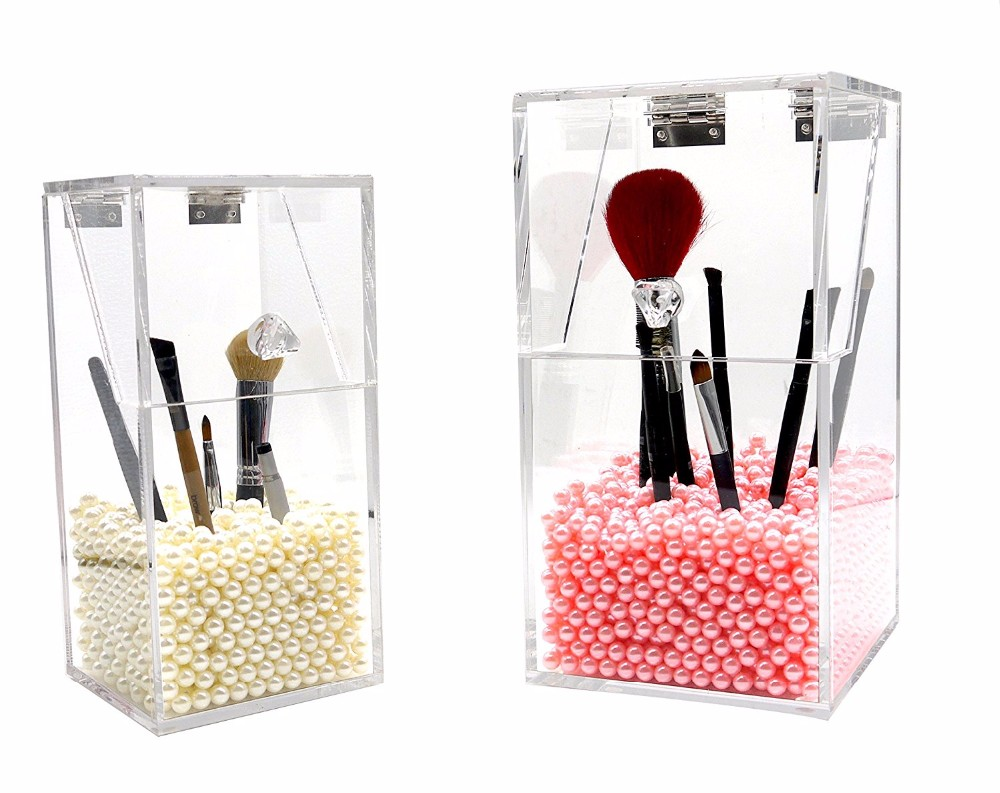 Hot Selling Brush Holder / Home Desktop Organizer with Pearl