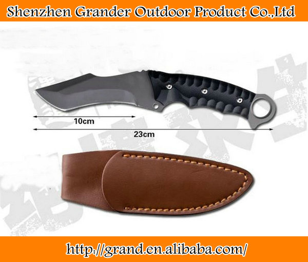 grey titanium coating survival knife <strong>K10</strong> Handle knife tactical tools 58HRC Fixed blade hand knife 5604