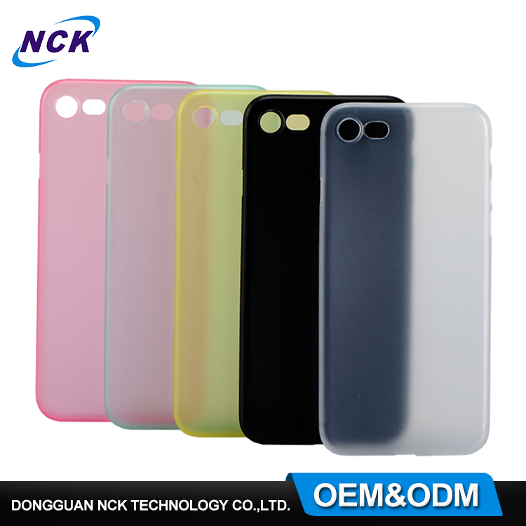 Free sample 0.4mm ultra slim candy color mobile phone cover pp protective case for iphone 6 7 7plus