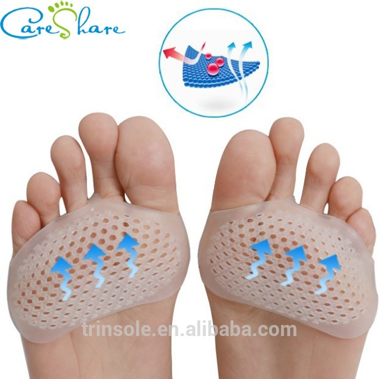 Factory Supply Gel Forefoot Cushion Metatarsal Pain Relief Foot Pads with CE&ISO