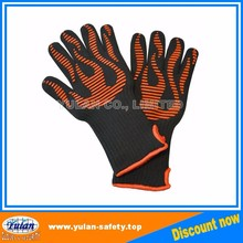 silicone heat resistant grilling bbq gloves