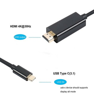 HDMI to USB Type C Cable adapter for Macbook Samsung S8/S8 Plus