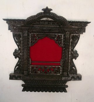 Wooden Wall Hanging Carved Window Frame Nepal
