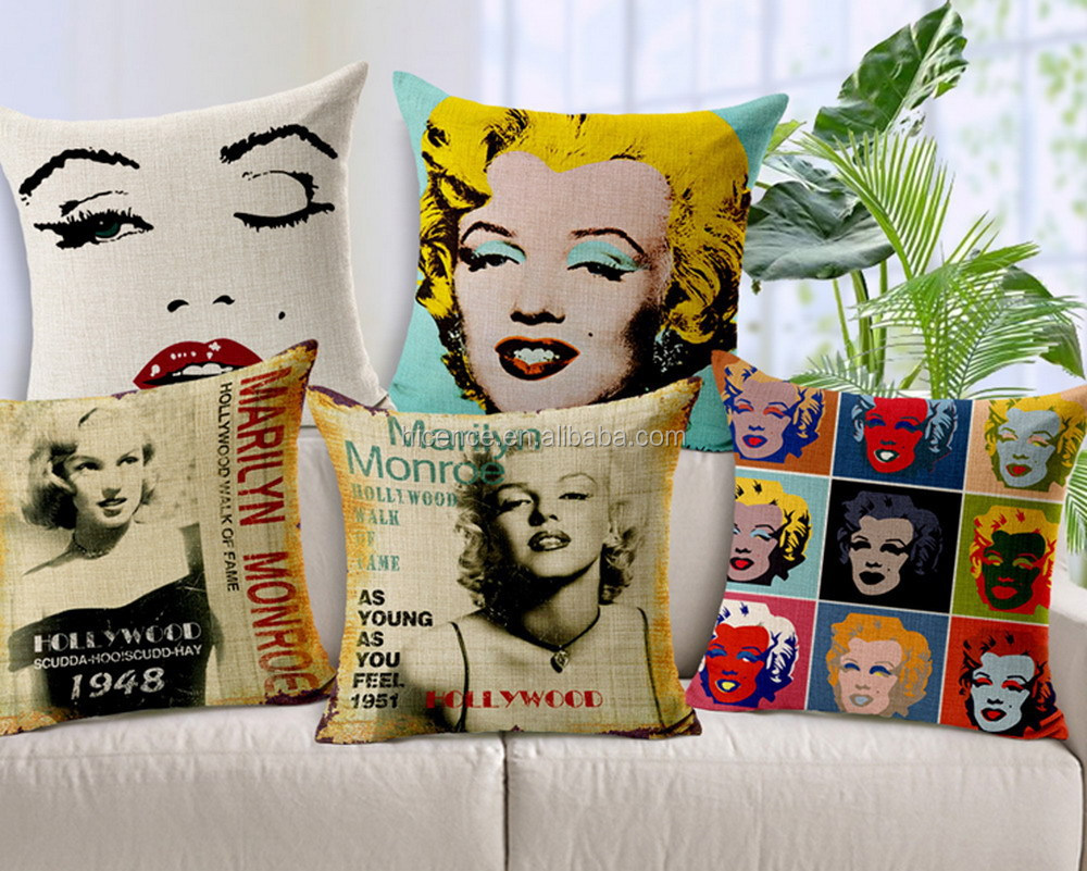 New Hot Linen and Cotton Cushion Covers Pillow Cases