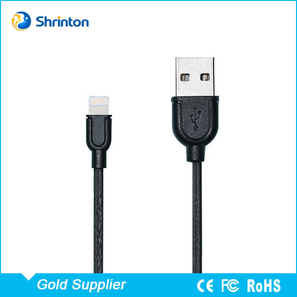 High Quality Low Profile 1m USB Phone Charging Cable for iPhone 7 with Low Price
