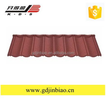 High Quality recycled rubber roofing tiles ,building material colorful stone coated metal roof tile