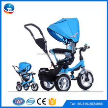 Europe standard 4 in 1 baby carrier tricycle/baby kids stroller tricycle for children/ 3 wheel child tricycle for sale